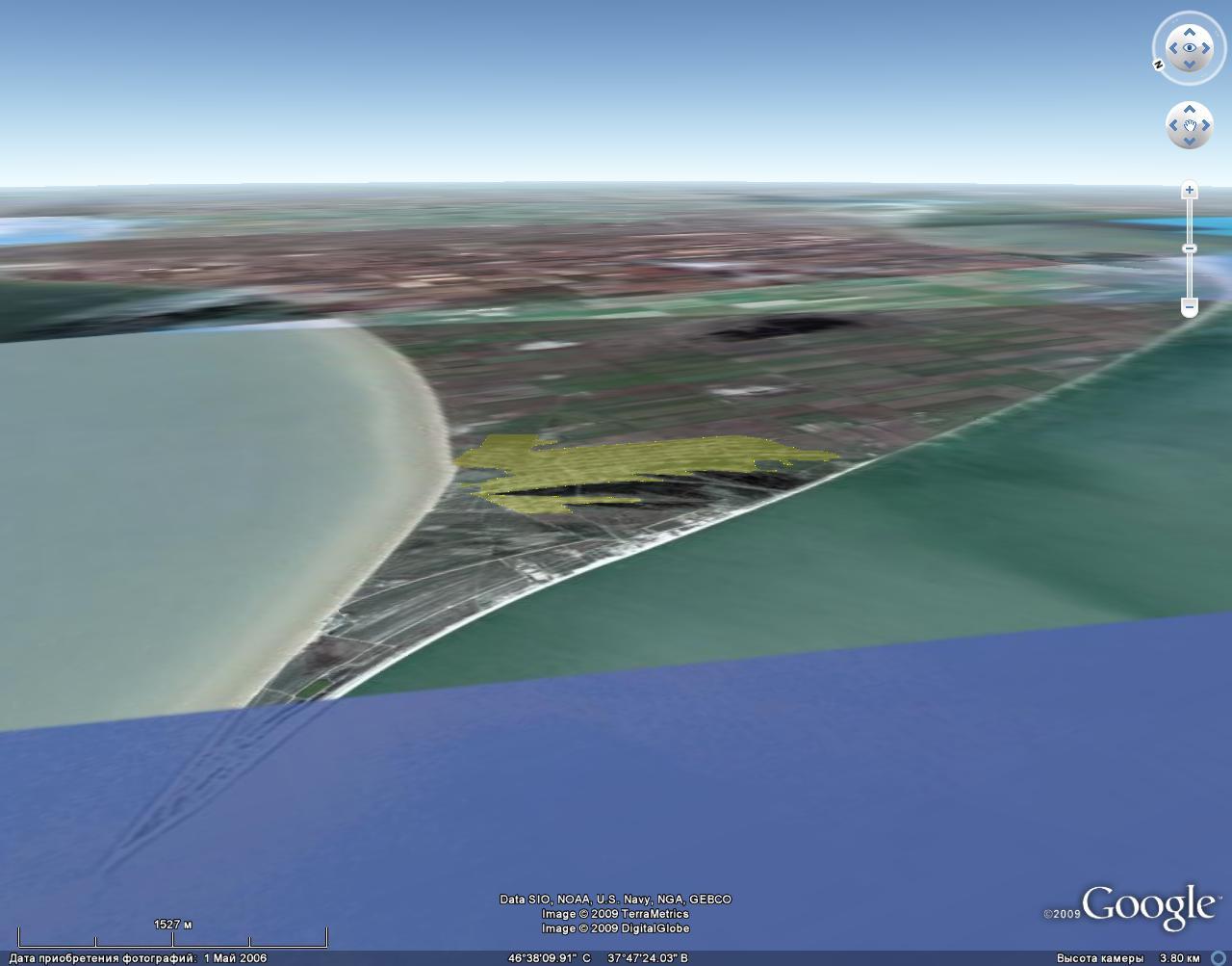 Скриншот из географического браузера